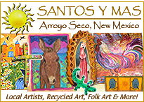 Local New Mexican art, folk art, crosses, santos, folk art and more